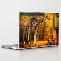 giraffes Laptop & iPad Skins featuring Giraffes by LudaNayvelt