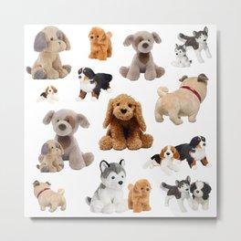 Fluffy Puppy Dog Pattern Metal Print