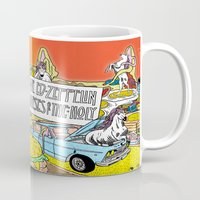 "led zeppelin Mugs featuring Mr. Ed-Zeppelin - ""Horses of the Holy"" by Steven Fiche by Consequence of Sound"