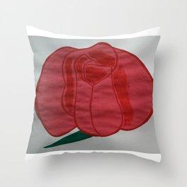 Handmade drawing of flower Throw Pillow