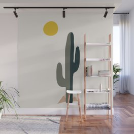 Cactus and the Rising Sun Wall Mural