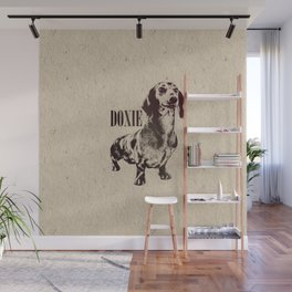 Dachshund dog  - Doxie Wall Mural