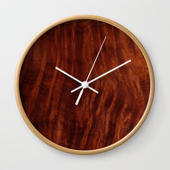 Beautiful Unique Mahogany Red Wood Veneer Design Wall Clock By Andulino