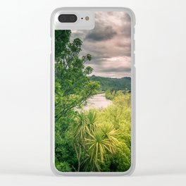 River Storm Clouds Clear iPhone Case