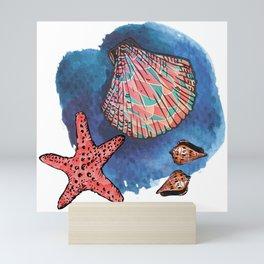Seashells and starfish Mini Art Print