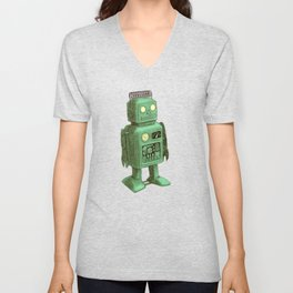 Robot vs Alien Unisex V-Neck