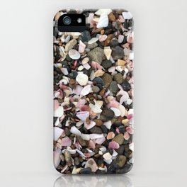 Pinks and pebbles iPhone Case