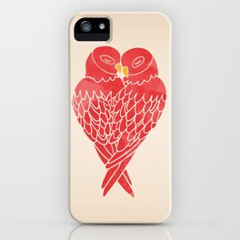 Love Birds (Red) iPhone Case