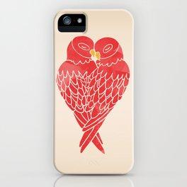Love Birds (Red) iPhone Case