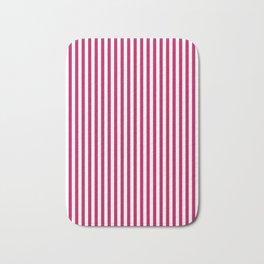 Red- crimson striped 1 Bath Mat