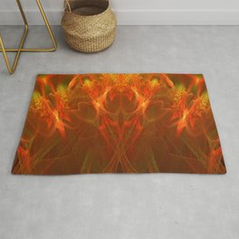 The Red Bird of death Rug