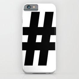 Hash Sign (Black & White) iPhone Case