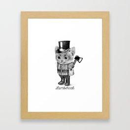 LUMBERCAT Framed Art Print