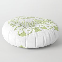 Skiing Gigi Floor Pillow