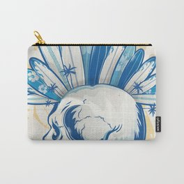 surfer skull Carry-All Pouch
