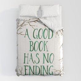 A Good Book Has No Ending (Colour) Comforters