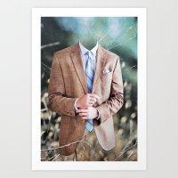 suit Art Prints featuring Suit by John Turck