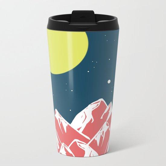 galactic mountains Metal Travel Mug