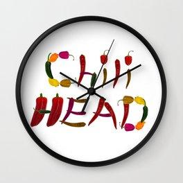 Chilihead, Chili Head - we all love chili Wall Clock