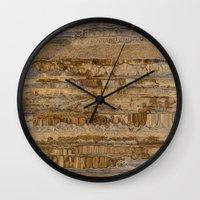 velvet underground Wall Clocks featuring Underground by dominiquelandau