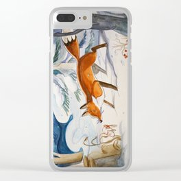 Mitten and Fox Clear iPhone Case