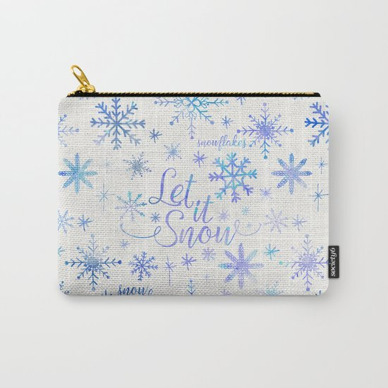 Let It Snow Winter Pattern Carry-All Pouch