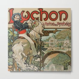 "Alphonse Mucha ""Luchon"" Metal Print"