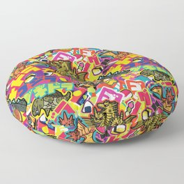 Kaiju Graffiti Floor Pillow