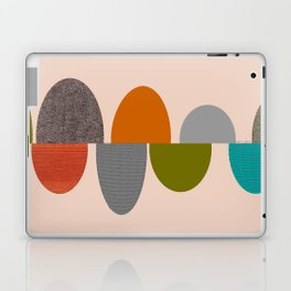 Mid-Century Modern Ovals Abstract Laptop & iPad Skin