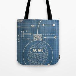 Acme Spherical Bomb vintage Blueprint Tote Bag
