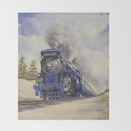 The Seashore's Finest Train Throw Blanket