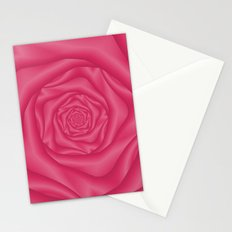 Spiral Rose in Pink Stationery Cards