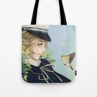 vocaloid Tote Bags featuring Oliver by Leirix