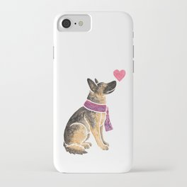 Watercolour German Shepherd Dog iPhone Case