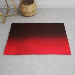 Red Ombré Block Design Rug
