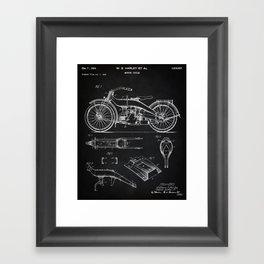 1924 Motorcycle Patent Art Framed Art Print