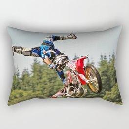 Motocross stuntman Rectangular Pillow
