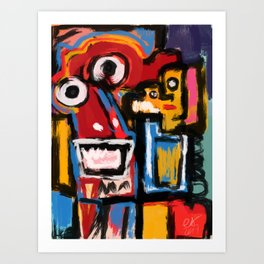 Art Brut Outsider Art Street Graffiti Art Print