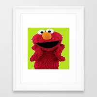 elmo Framed Art Prints featuring ELMO DUVET COVER by aztosaha