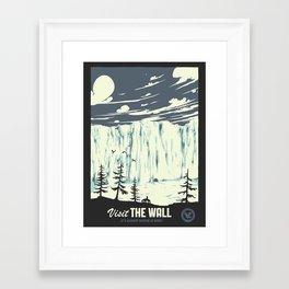 Visit the wall Framed Art Print