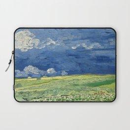 Vincent van Gogh - Wheatfield Under Thunderclouds Laptop Sleeve