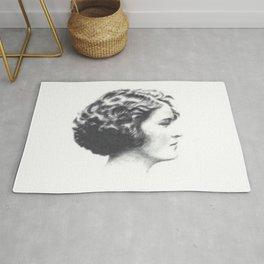 A portrait of Zelda Fitzgerald Rug