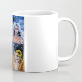 The elements: Earth, Air, Fire, Water Coffee Mug