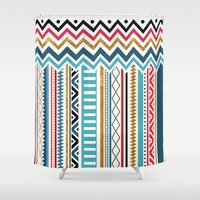 tribal Shower Curtains featuring Tribal by Kakel