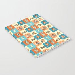 Colourful lemur pattern Notebook