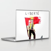 enjolras Laptop & iPad Skins featuring Enjolras' Last Stand by brokenfocus