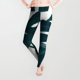 Monstera Minimal Leggings