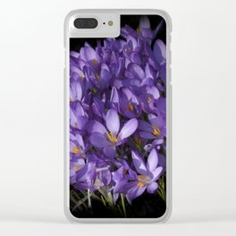 the colors of spring - lilac crocus Clear iPhone Case