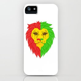 Unique Reggae Animal Design A Nice Illustration Of A Lion King T-shirt Jungle Animal Zoo Tiger iPhone Case