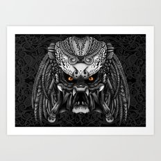 Aztec Alien Predator iPhone 4 4s 5 5c 6, pillow case, mugs and tshirt Art Print